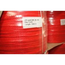 3mm PP 3-slået - 1000m - rød