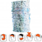 Multi tørklæde / Halsedisse hvid/blå