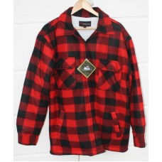 Skovmandsskjorte rød m/kraftigt foer